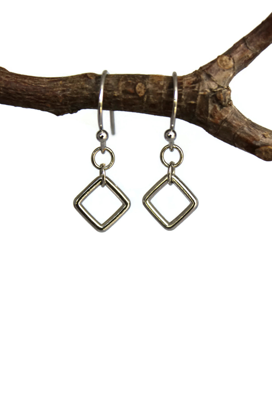 Tiny Square Dangle Earrings