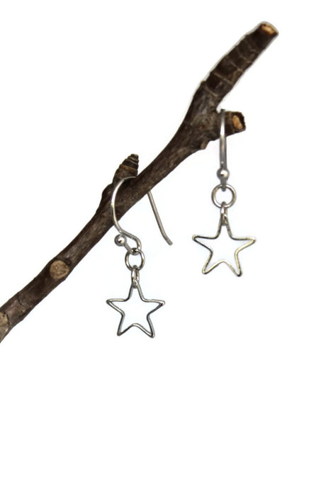 Tiny Star Dangle Earrings