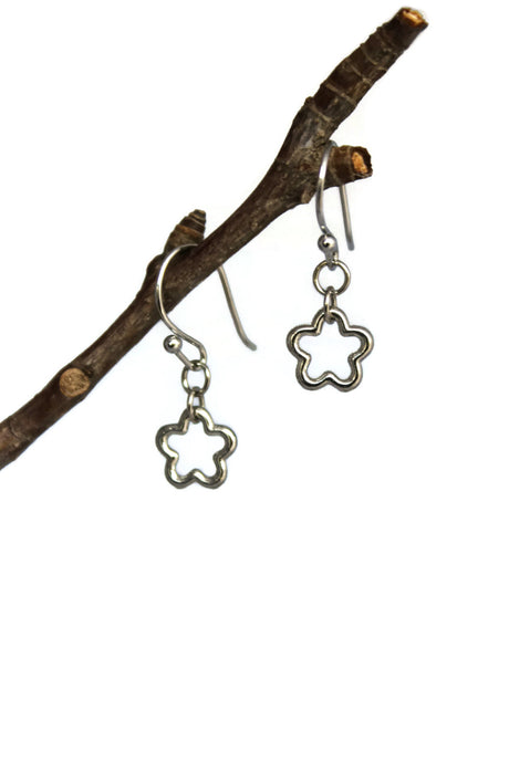 Tiny Flower Dangle Earrings