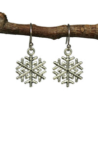 Antiqued Silver Snowflakes Dangle Earrings