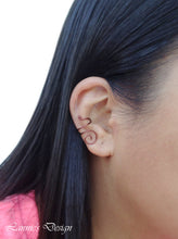 Load image into Gallery viewer, Brown Swirl Wire Ear Cuff No Piercing Conch Cartilage Earrings