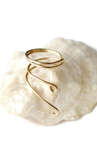 14K Gold Filled Ear Cuff Wrap Cartilage Earrings No Piercing Clip Minimalist