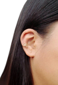 14K Gold Filled Ear Cuff Infinity Cartilage No Piercing Conch Minimalist Earring
