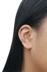 14K Gold-Filled Ear Cuff Tiny Loops Conch Earrings No Piercing Cartilage Minimalist