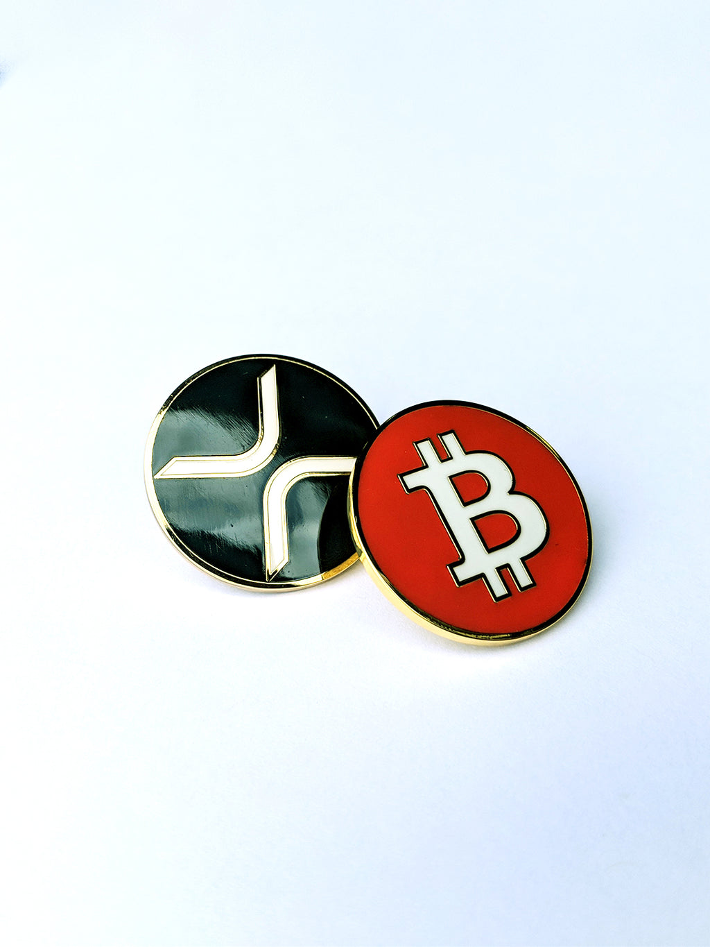 Cryptocurrency Enamel Pin Bundle 2-Pack
