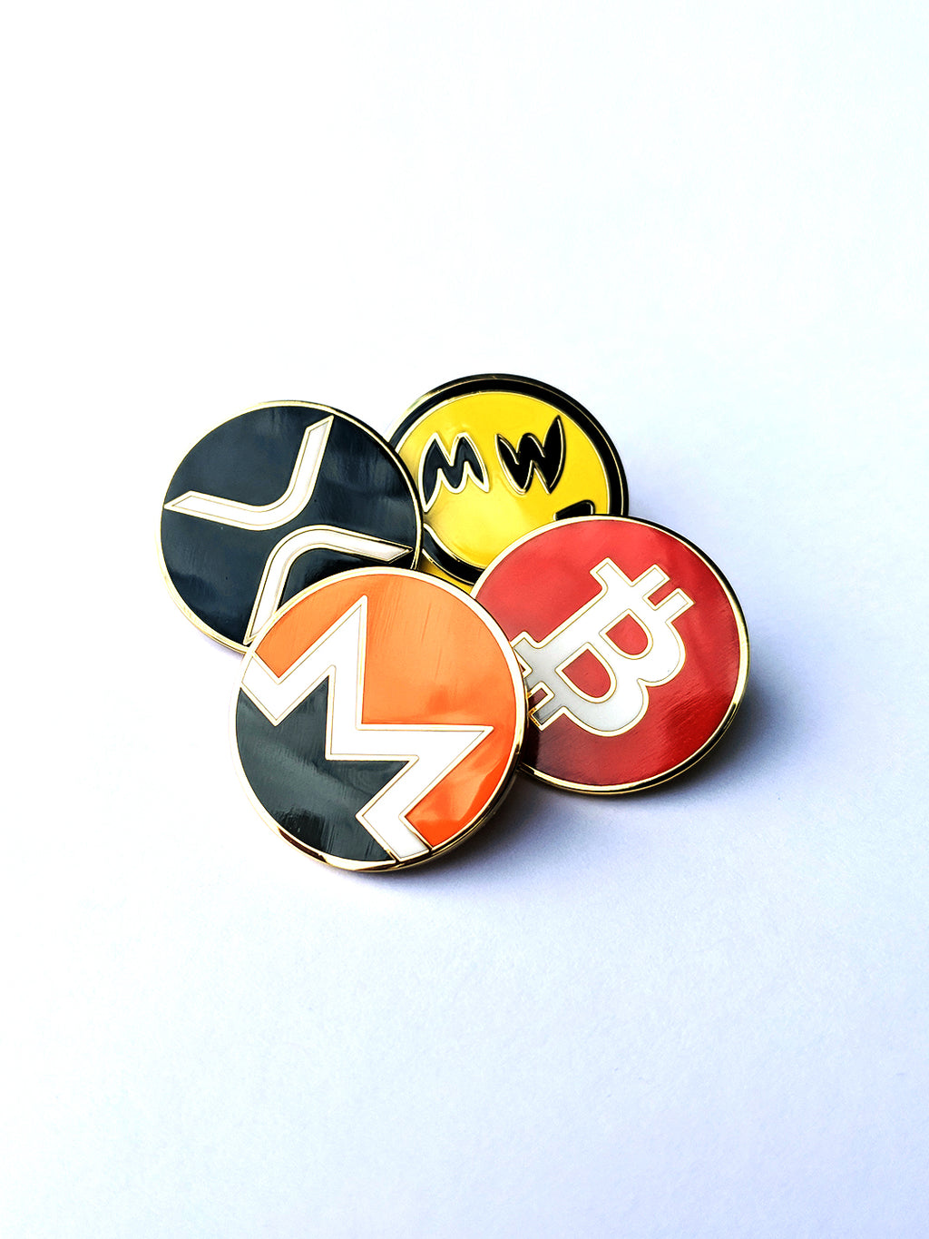 Cryptocurrency Enamel Pin Bundle 4-Pack