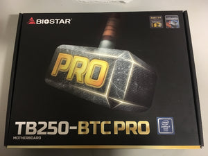*USED - WITH CPU - MOTHERBOARD ONLY* Biostar Motherboard TB250-BTC
