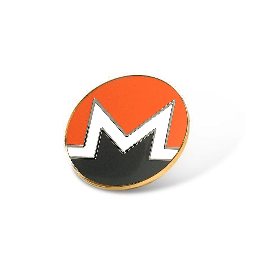Monero / XMR / Cryptocurrency Enamel Pin
