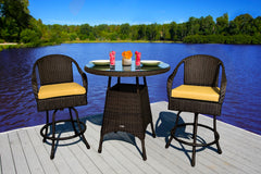 SEA PINES BAR SET-TORTOISE WICKER