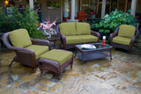 SEA PINES 6 PIECE LOVESEAT SETS-JAVA WICKER