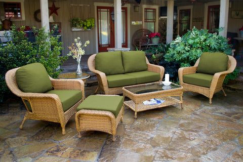 SEA PINES 6 PIECE LOVESEAT SETS-MOJAVE WICKER