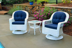 BILOXI 3PC SWIVEL GLIDER BISTRO SETS