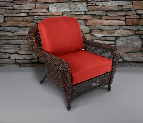 SEA PINES CLUB CHAIRS-JAVA WICKER