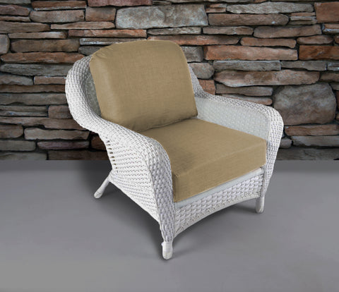 SEA PINES CLUB CHAIRS-WHITE WICKER