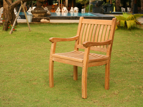 JAKARTA TEAK DINING SET AND ARM CHAIR