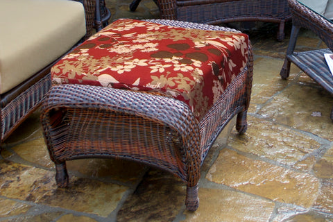 SEA PINES OTTOMANS-JAVA WICKER