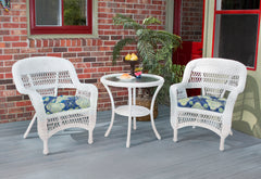 PORTSIDE 3 PIECE BISTRO SETS-COASTAL WHITE