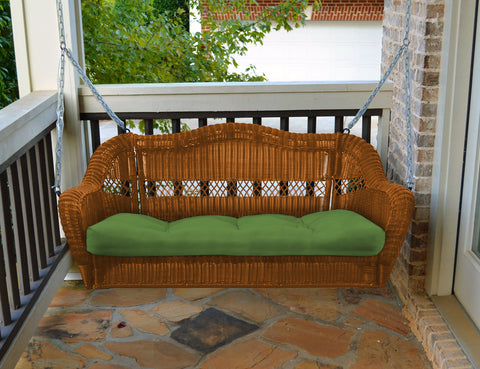 PORTSIDE PORCH SWING-AMBER WICKER