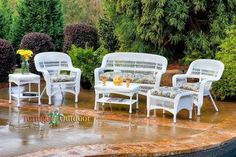 PORTSIDE 6 PIECE SEATING SETS – COASTAL WHITE