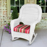 SEA PINES SINGLE ROCKER-WHITE WICKER