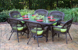 PORTSIDE 7 PIECE DINING SETS-DARK ROAST