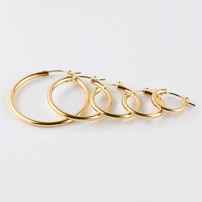 J.Bubs Earrings 15mm NATALIA 14k Gold Filled Hoops