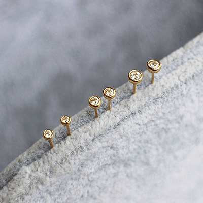 J.Bubs Earrings 2.6mm MELANI Gold Stud Earrings