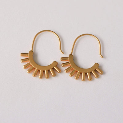 J.Bubs Earrings AIYANA Matte Gold Tribal Earrings