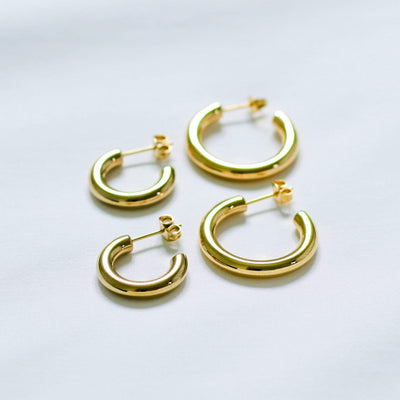 J.Bubs Earrings CARINA Gold Radial Hoops
