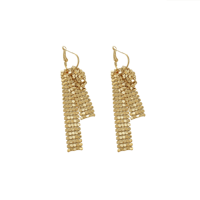 J.Bubs Earrings CHARLIZE Gold Shimmering Drop Earrings