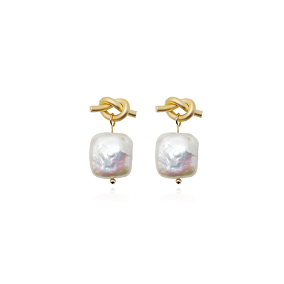 J.Bubs Earrings CHERYL Baroque Pearl Earrings