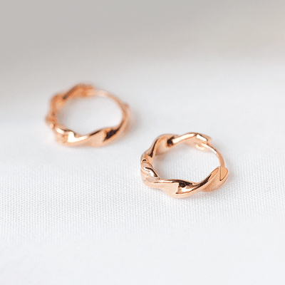 J.Bubs Earrings CLAUDIA Rose Gold Mini Hoops