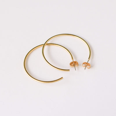 J.Bubs Earrings DAMARA Delicate Gold Hoops