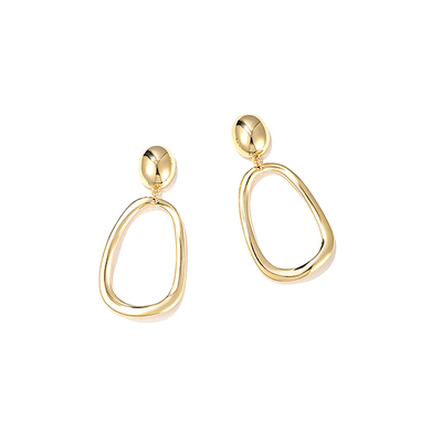 J.Bubs Earrings DENISE Gold Organic Hoop Drop Earrings
