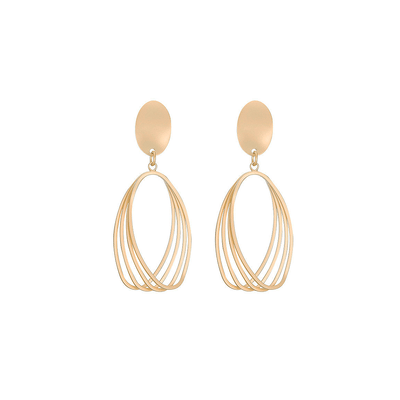 J.Bubs Earrings FAITH Gold Oval Drop Earrings