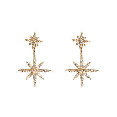 J.Bubs Earrings GALAXIE 14k Gold Plated Mismatched Stars Earrings