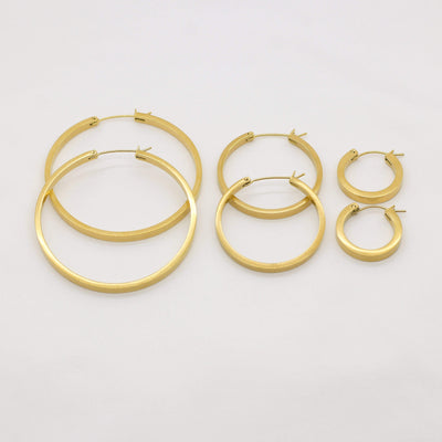 J.Bubs Earrings GEMMA Gold Geometric Hoop Earrings