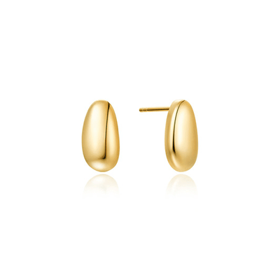J.Bubs Earrings GIA Gold Bean Drop Earrings