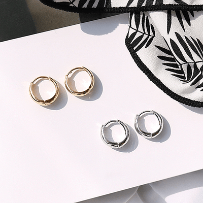 J.Bubs Earrings Gold REGAN Tapered Hoop Earrings
