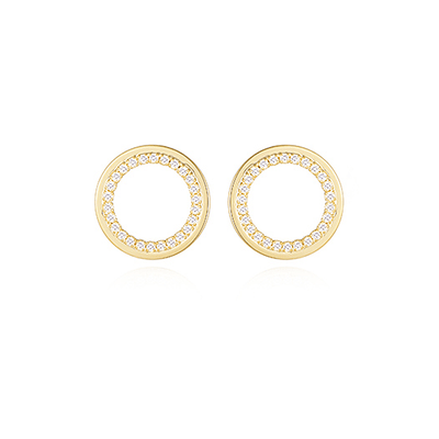 J.Bubs Earrings INNA Delicate Pave Crystal Circles
