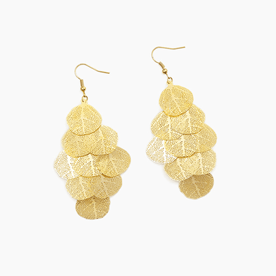 J.Bubs Earrings KARENA Gold Leaf Earrings