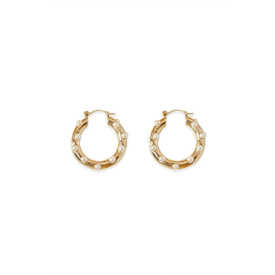 J.Bubs Earrings PEARLE Pearl Encrusted Hoop Earrings