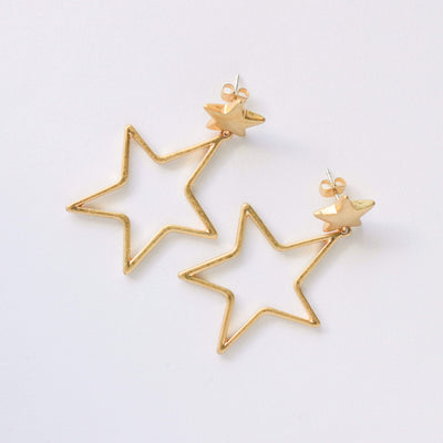 J.Bubs Earrings PORTIA Matte Gold Star Earrings