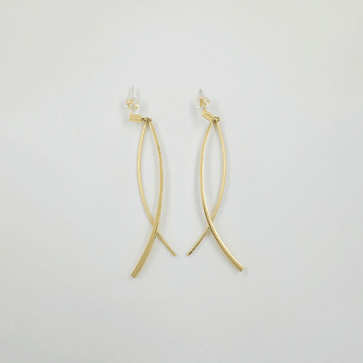 J.Bubs Earrings REMI Gold Ribbon Drop Earrings