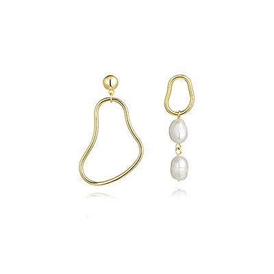J.Bubs Earrings SEHRA Mismatched Baroque Pearl Earrings