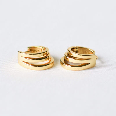 J.Bubs Earrings VALENTINA Gold Layered Hoops