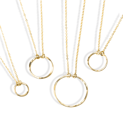 J.Bubs Necklaces 10mm BRITTANY 14k Gold Filled Hoop Necklace