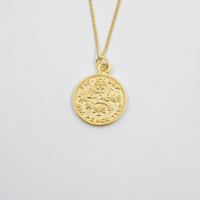 J.Bubs Necklaces AUBREY 18k Gold Plated s925 Coin Necklace