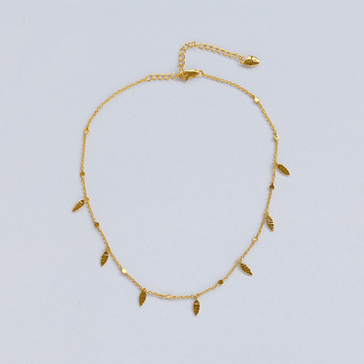 J.Bubs Necklaces CHAMILLE 18k Gold Plated 925 Claw Choker Necklace