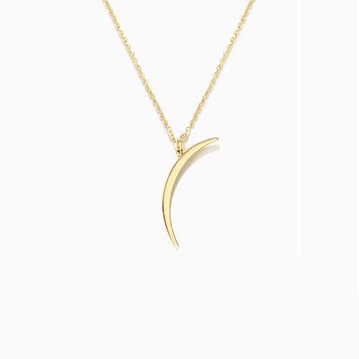 J.Bubs Necklaces INGRID 14k Gold Plated Moon Pendant Necklace